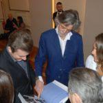 Daniele Radini Tedeschi con il conte Gelasio Gaetani d'Aragona Lovatelli e Aline Coquelle