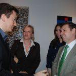 Il conte Daniele Radini Tedeschi assieme ai Principi Giovanelli